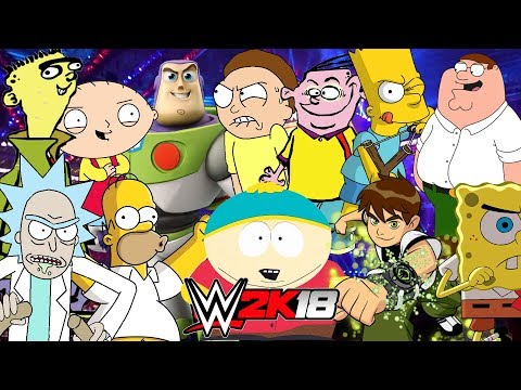 CARTOON CHARACTERS | Royal Rumble WWE 2K18
