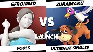Smash Ultimate Tournament - GFromMD (Wii Fit Trainer) Vs. Zuramaru (Duck Hunt) - Launch 2 Pools