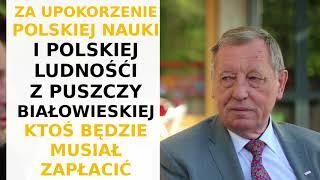 Jan Szyszko: Niemcy wycinając lasy z powodu kornika - wykazują się więc wiedzą i pragmatyzmem