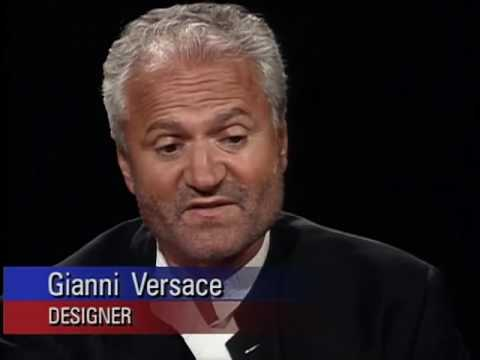 Gianni Versace (Italian Designer)R.Iview with Charlie Rose 1994