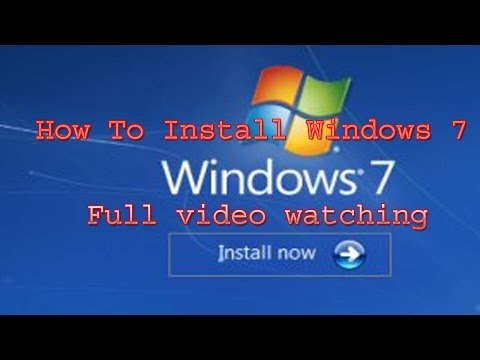 window 7 installati step by step in hindi