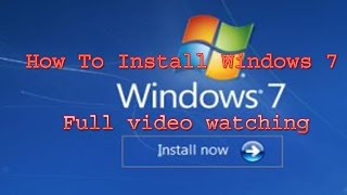 window 7 installati step by step in hindi