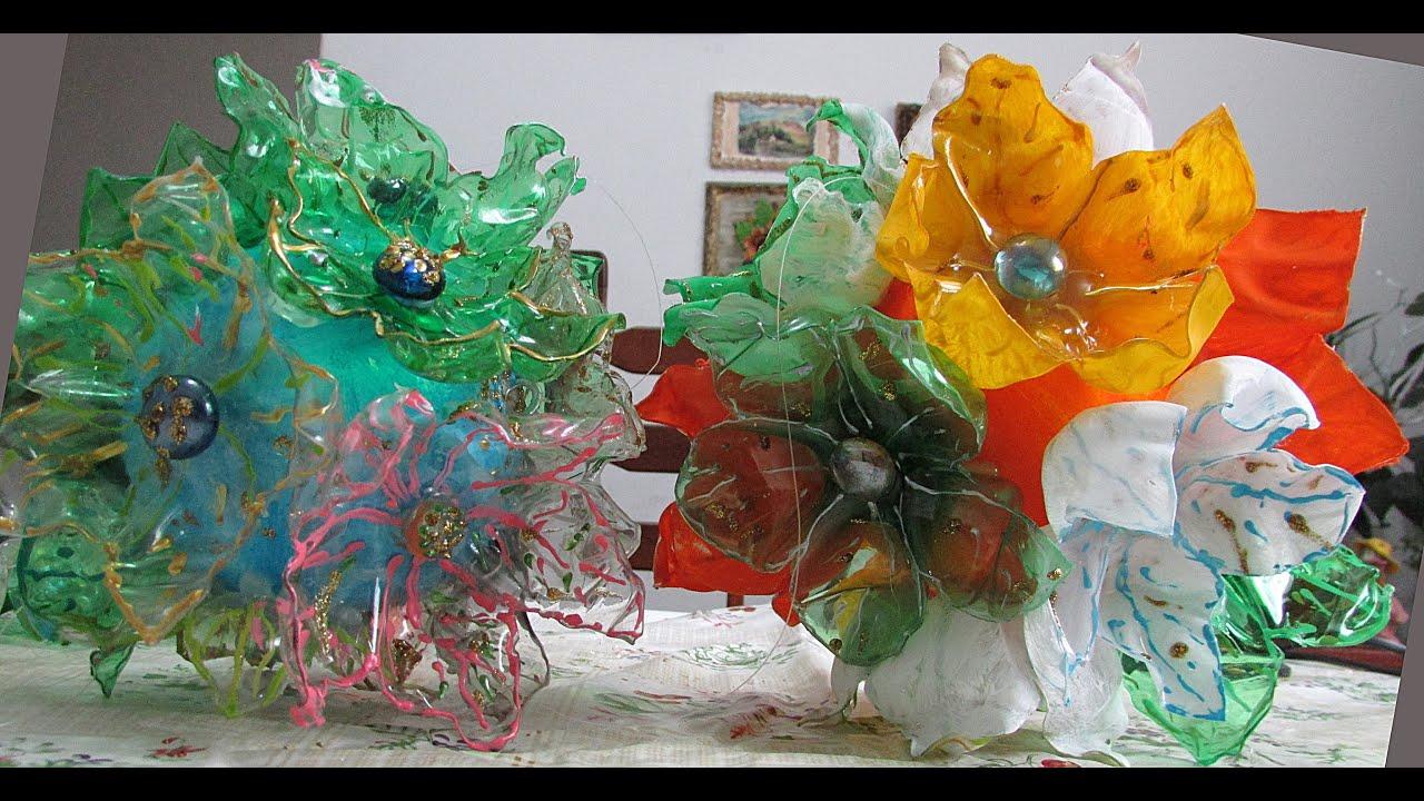 Artesanato Decoraç u00e3o com reciclagem de garrafa PET YouTube