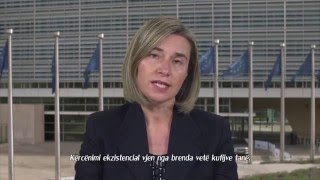 Federica Mogherini's message on Europe Day (Albanian subtitles)