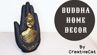 Buddha Home Decor/ Best out of waste/art and craft/clay mural/buddha mural