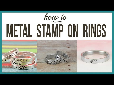Metal Stamping on Rings - Beaducation.com