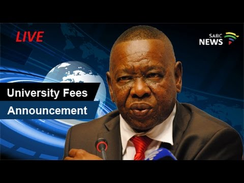 University tuition fees announcement, 19 September 2016