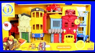 Imaginext Rescue City Center Fire Station Mohawk Dude Robot Bane Lex Luthor Battle Batman Batbot