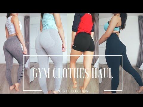GYM CLOTHES HAUL ♡ GYMSHARK | LVFT | LULULEMON | FOREVER21 | NIKE ♡ TRY-ON