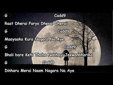 Najeek lyrics with guitar chords || Bimbaakas || Bartika Eam Rai ||