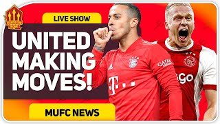 Van De Beek AND THIAGO Deals Closer! Man Utd Transfer News