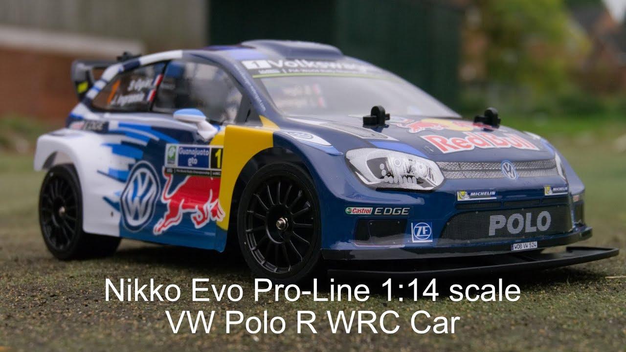 Nikko Rc Evo Pro Line Rc 1 14 Scale Vw Polo R Wrc Car Youtube