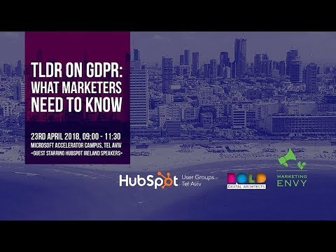 HUG Tel Aviv: GDPR - What Marketers Need to Know