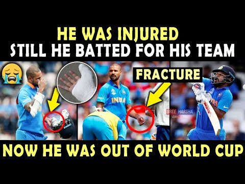 shikhar-dhawan-played-with-injury-💔-|-ruled-out-of-world-cup-2019-|-heart-breaking-video-|-respect