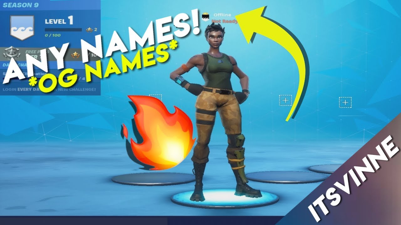 HOW TO GET ANY NAME IN FORTNITE *OG NAMES*