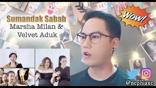Gambar cover Sumandak Sabah - Marsha Milan & Velvet Aduk Official Music Video | REACTION