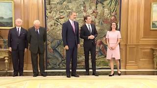 S.M. el Rey recibe en audiencia al canciller federal de Austria, Sebastian Kurz