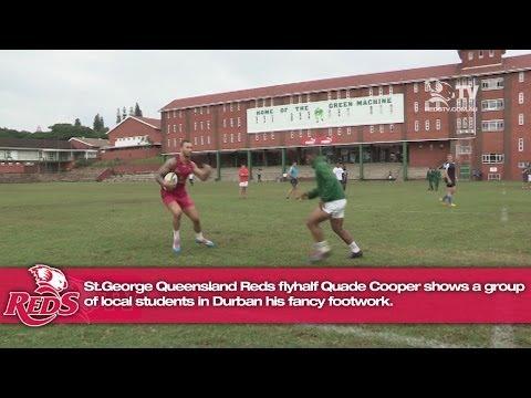 Quade Cooper fancy footwork in Durban