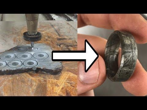 Making Meteorite Rings With A 60,002 PSI Waterjet - DIY