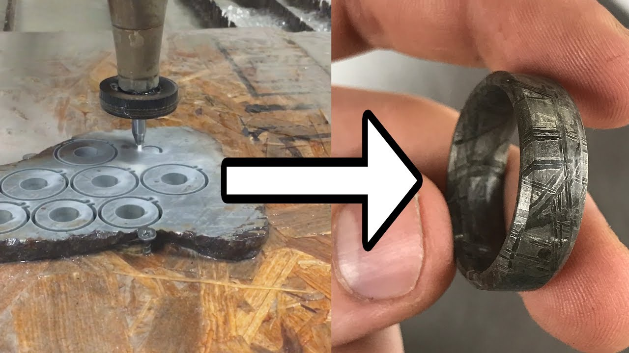 Making Meteorite Rings With A 60,002 PSI Waterjet - DIY