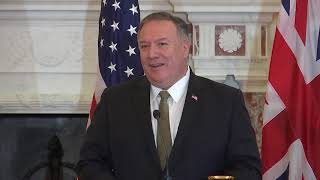 Secretary Pompeo joint press availability with United Kingdom Foreign Secretary Dominic Raab.