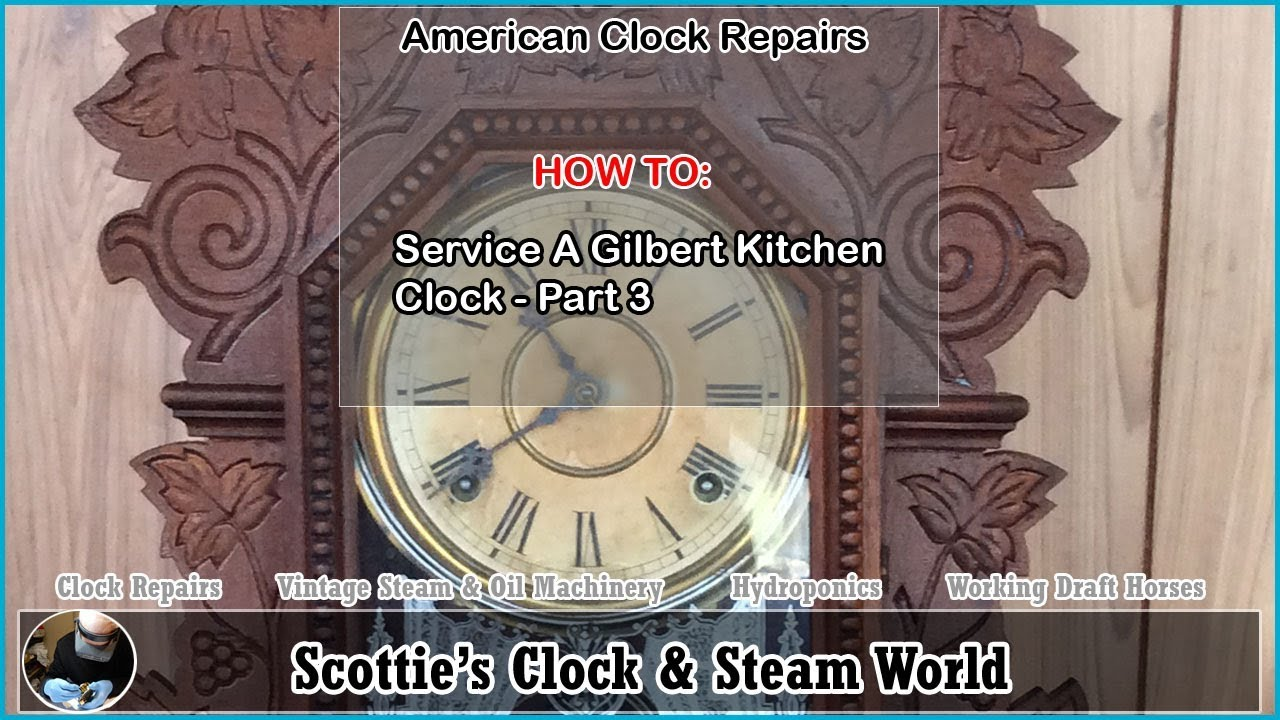 Gilbert Kitchen Clock Storage Bins How To Service A Part 3 Youtube