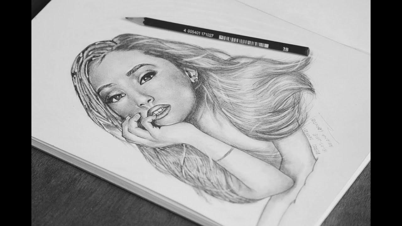 Draw ariana grande by derbi saputra youtube