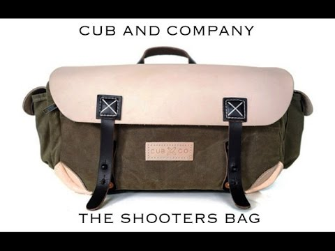 The Cub & Company Shooter's Bag. A Unique Camera Bag.