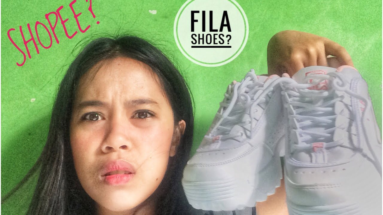 SHOPEE FILA DISRUPTOR UNBOXING AND