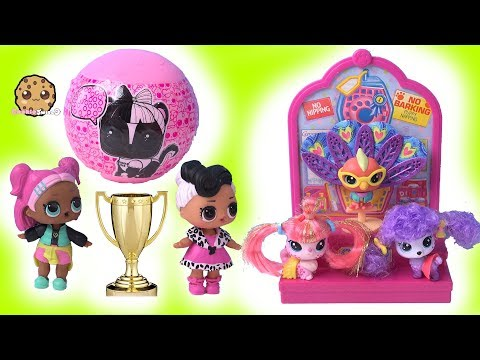 LOL Surprise PET CONTEST ! Blind Bag Ball Play Video - Cookie Swirl C