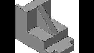 Видеоуроки по КОМПАС 3D. Урок 5  Как построить по двум видам третий и ребро жесткости в Компасе