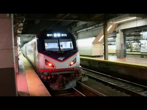 Amtrak [98] Silver Meteor w/ Viewliner Inspection Car 10004 @ New York Penn