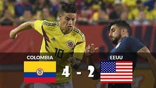 Colombia vs Estados Unidos 4-2 Partido Amistoso Resumen Highlights