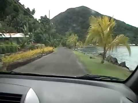 Driving back to Masefau village in American samoa.