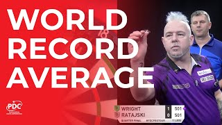 WORLD RECORD AVERAGE! Peter Wright averages 123.5!