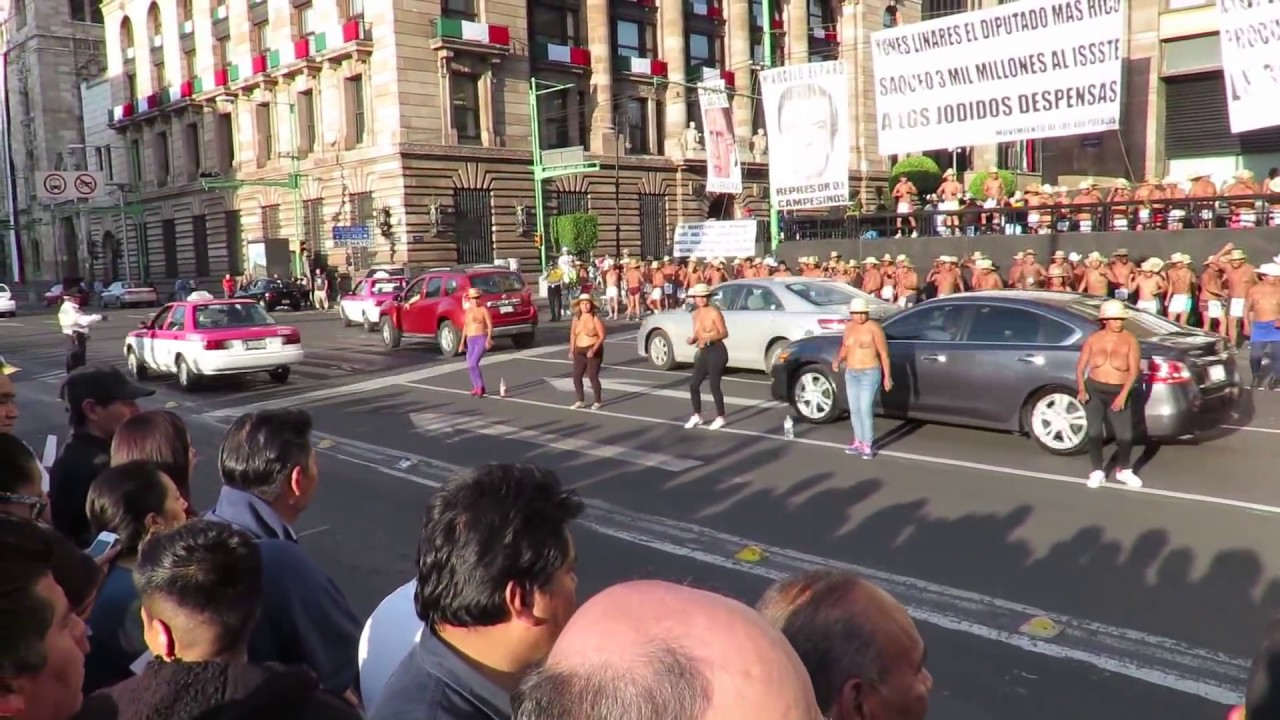 Naked protests in Mexico City - YouTube