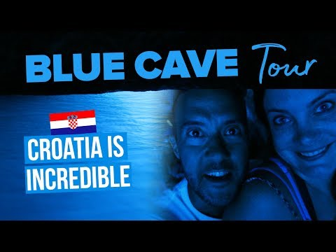 BLUE CAVE TOUR. Croatia Is Incredible!