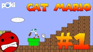 All the Fails! Cat Mario Walkthrough Episode 01, Levels 1 - 3 | Poki Game Movies