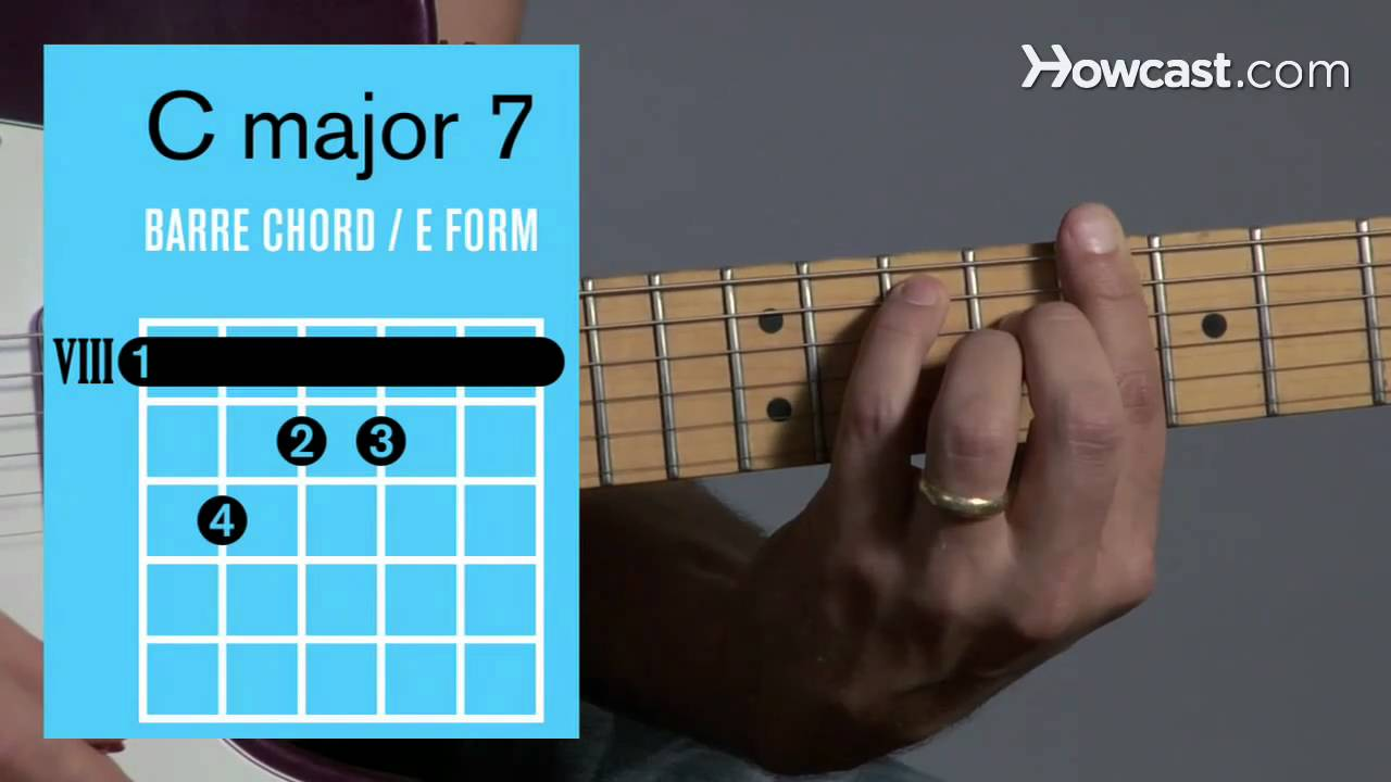 How To Play A C Major 7 Barre Chord Guitar Lessons Youtube
