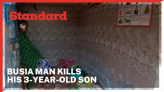 Busia man beaten up by irate neighbours after he stabbed his 3-year-old son to death