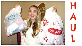 HUGE TODDLER WINTER CLOTHING HAUL (Old Navy - Carters) l Vlogmas Day 4