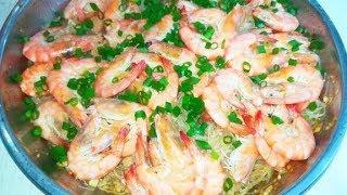 鲜虾蒸米粉,不要再开虾背了,这样做的虾更好吃更鲜
