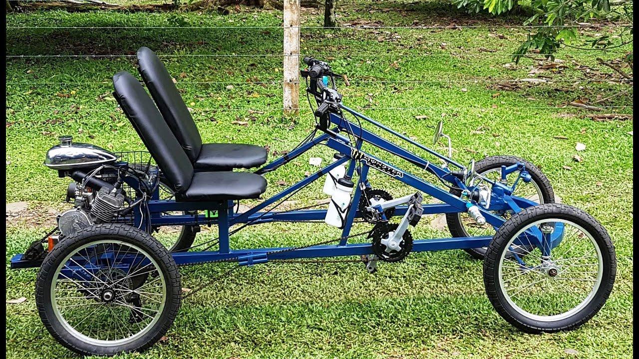 INCREIBLE carro para 2 personas con motor el proyecto más grande que he hecho(#bicimotoszoids)