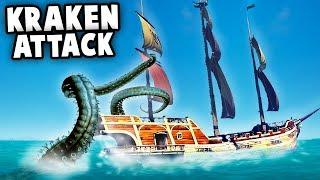 KRAKEN Attack!?  Epic Storms (Sea of Thieves Multiplayer Gameplay)
