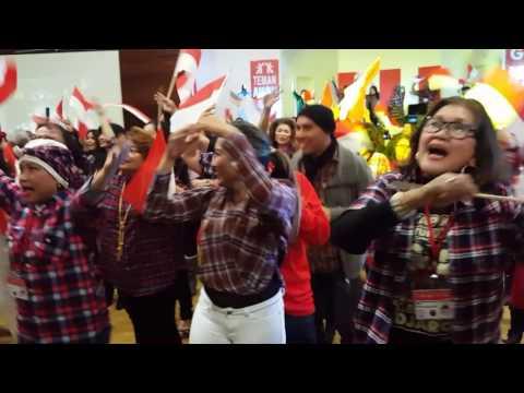 Hip Hip Hura flash mob ahok djarot California USA