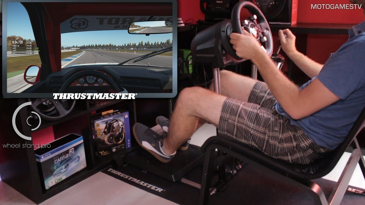 Project CARS 2 - Wheel Stand Pro with Thrustmaster T-GT Wheel and TH8A  Shifter