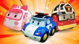 Видео про игрушки из мультиков для детей. Робокар Поли : приключения на трассах!