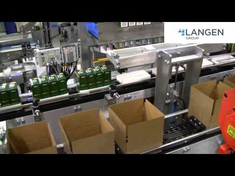 Mpac Langen's LRC-500 Top Load Case Packer Robotically Loads Cartons Into Cases