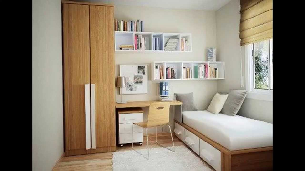Small bedroom arrangement ideas - YouTube on Bedroom Ideas For Small Rooms  id=11459
