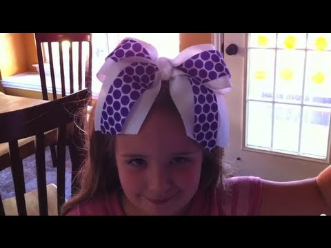 diy hair styles how to make a big no sew cheer bow 1866